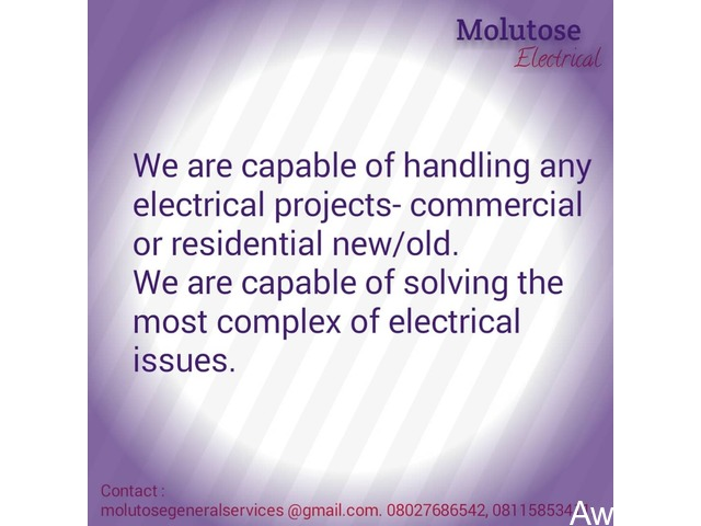 Quality Electrical Services - Call 08027686542 - 1