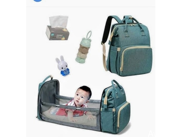 Baby Multifunctional Diaper Bag. It also serves as a Cot (Call or WhatsApp - 08033006907) - 1
