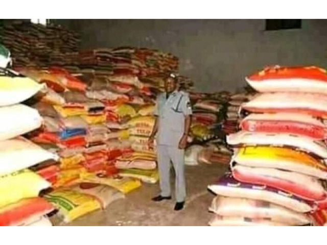 CUSTOM IMPOUNDED BAGS OF RICE FOR SALE IN LAGOS CALL 08068690473 - 1