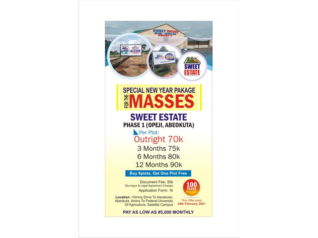 We Are Selling Affordable Farmlands and Residential Lands at Sweet Esate, Abeokuta - 1