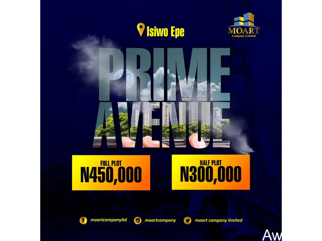 Plots of land For Sale at PRIME AVENUE, Epe (Call or Whatsapp - 08138322346)  - 1