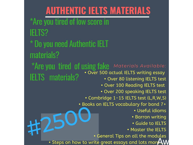 Get Actual IELTS Materials for just N2500 and get high score (Call or Whatsapp - 08166878899) - 1