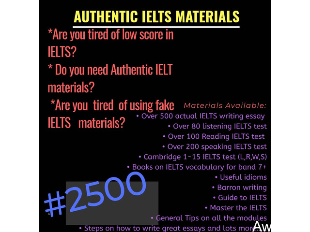 Get Actual IELTS Materials for just N2500 and get high score (Call or Whatsapp - 08166878899) - 3