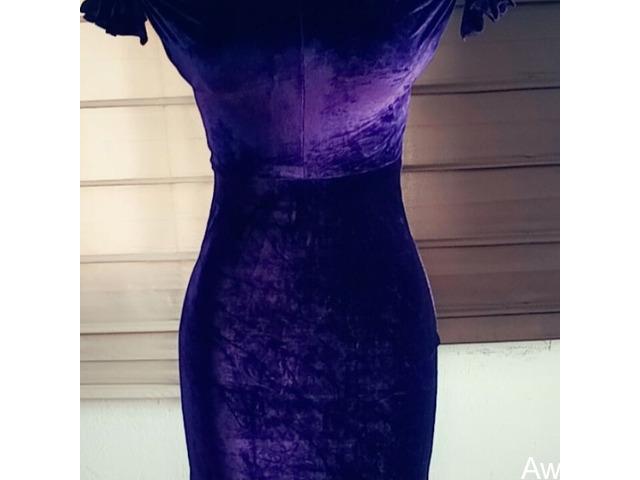 Velvet evening gown  - 1