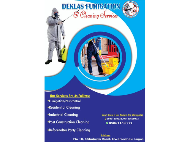 Fumigation and cleaning - 1