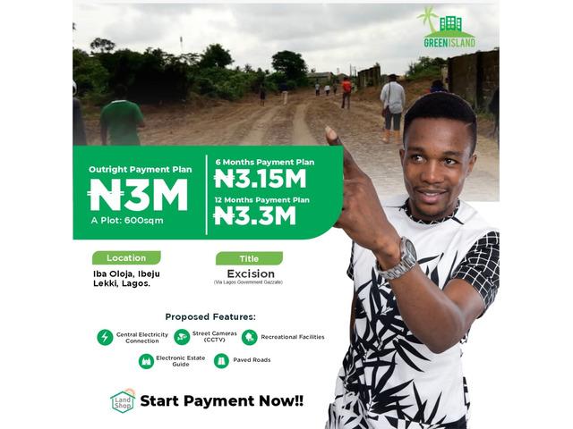 Plots of Land For Sale at Green Island at Iba Oloja, Ibeju Lekki (Call or Whatsapp - 08060728140) - 1