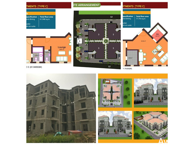 1 Bedroom, 2 Bedroom and 3 Bedroom Apartments in a Well Serviced Estate  - 1
