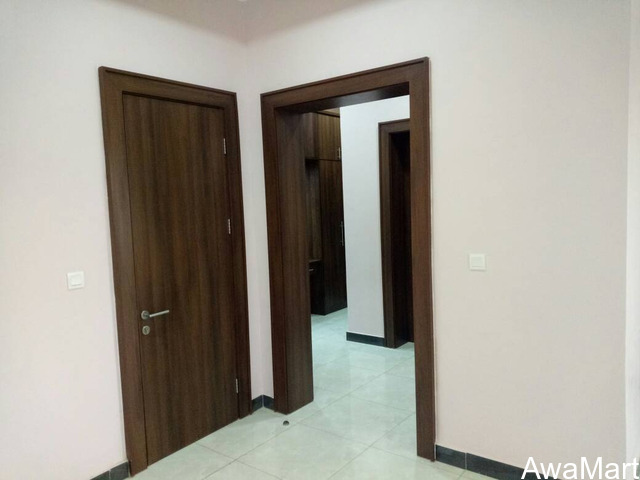 Internal Flush Doors made of MDF wood, with frame, stopper, architrave and profile  - 1
