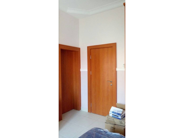 Internal Flush Doors made of MDF wood, with frame, stopper, architrave and profile  - 2