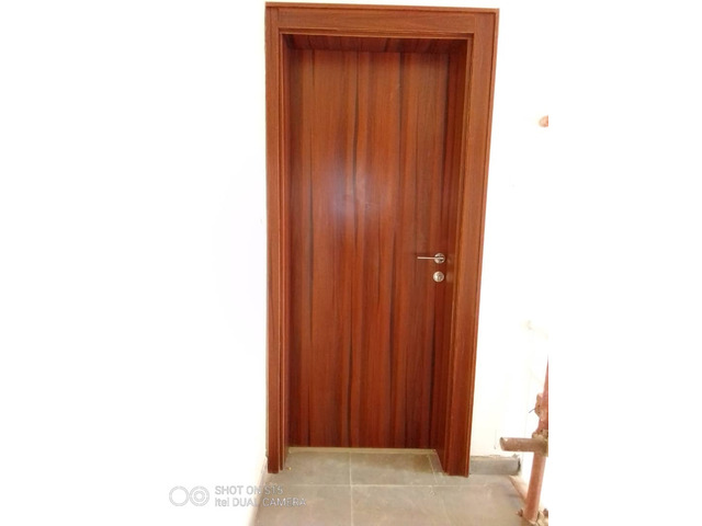 Internal Flush Doors made of MDF wood, with frame, stopper, architrave and profile  - 3