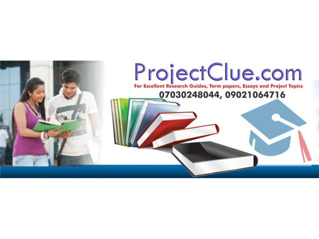 Undergraduate Project Topics and Research Materials - 1