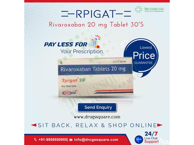 Rpigat 20 mg Price - Order Rivaroxaban Tablet Online in USA, UK - 1