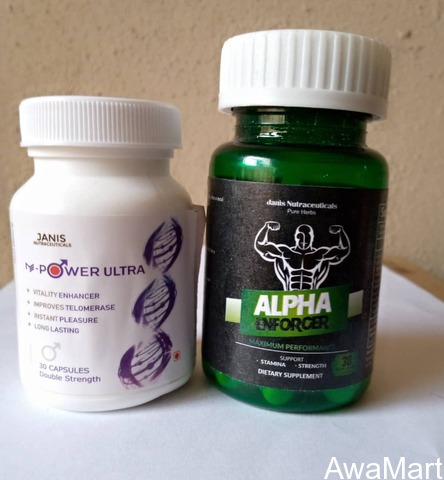 M POWER ULTRA AND ALPHA ENFORCER - 2-IN-1 TOTAL CURE FOR MEN INFERTILITY AND SEXUAL WELLNESS - 2