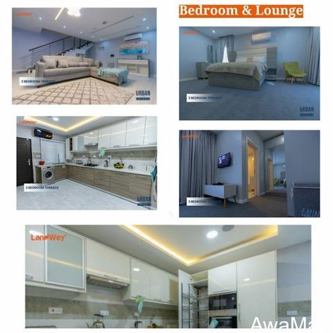 2 Bedroom Terrace at Lavadia Inside Urban Prime One, Abraham Adesanya - LEKKI - 1