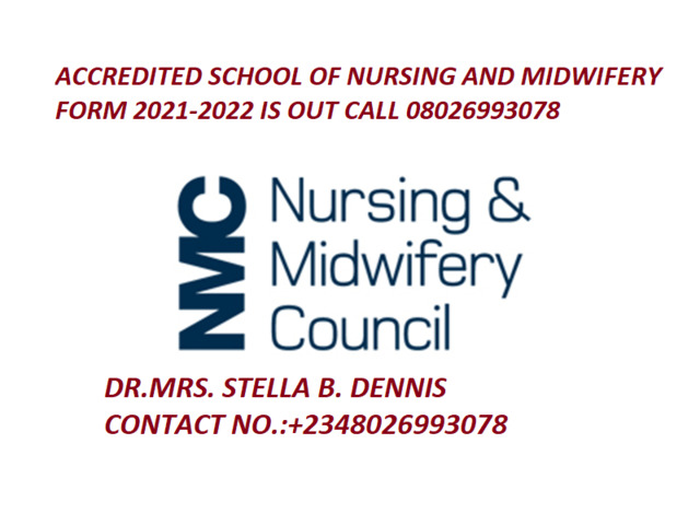 College of Nursing Obangede 2021/2022 Admission Form is out call 08026993078  - 1