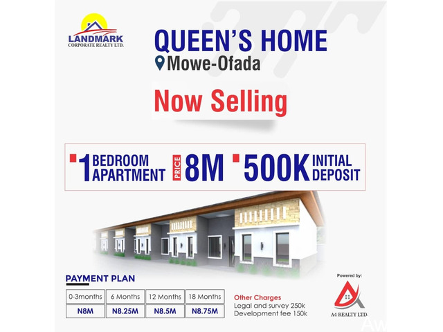 Apartments For Sale at Queens Homes - call 07062689906 - 3
