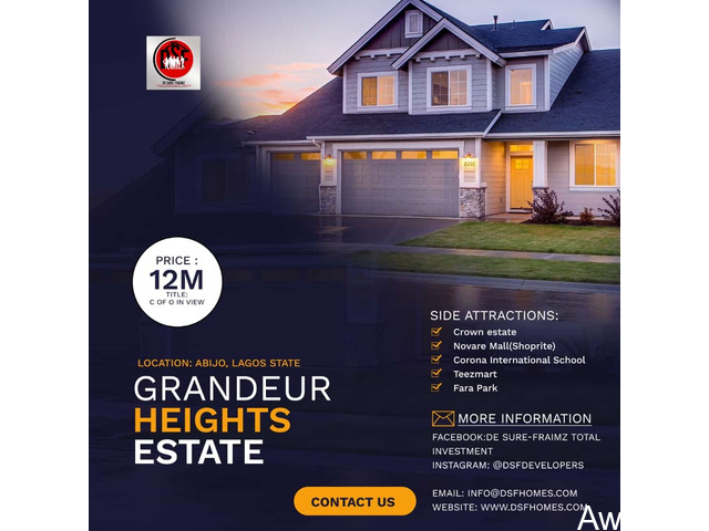 Plots of Land For Sale at GRANDEUR HEIGHTS ESTATE, ABIJO, AJAH  - 1
