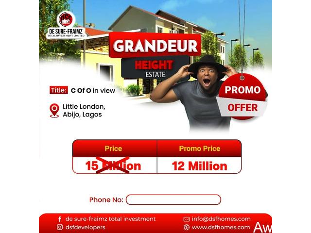 Plots of Land For Sale at GRANDEUR HEIGHTS ESTATE, ABIJO, AJAH  - 2
