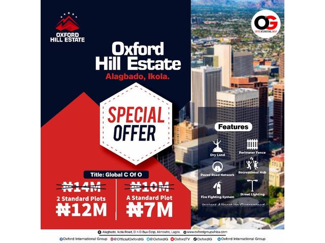 We are Selling Plots of Land at Oxford Hill Estate, Ikola/Alagbado, Lagos - 1