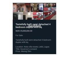 SELLING NOW - Tastefully Built Semi Detached 4 Bedroom Duplex with BQ at Ikota Villa Estate, Lekki  - Image 1