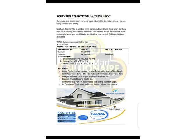 We Are Selling Plots of Land at Southern Atlantic Villa, Ibeju Lekki  - 1